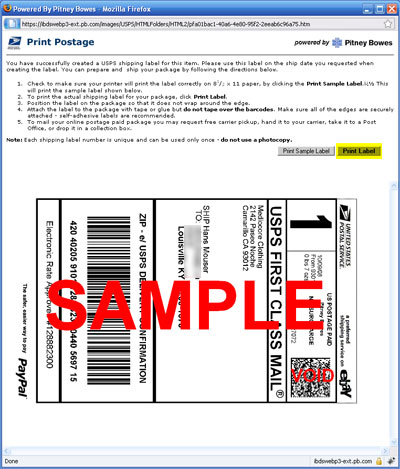 printshippinglabel How to package and ship your items with paypal shipping center