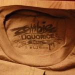 t shirt tags zombie liquorice